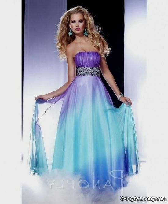 Blue And Purple Short Prom Dresses - Black Prom Dresses