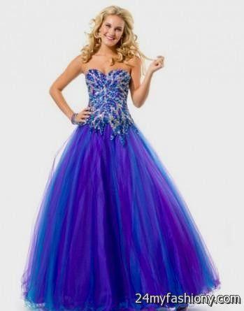 Purple And Blue Prom Dresses Looks B2b Fashion