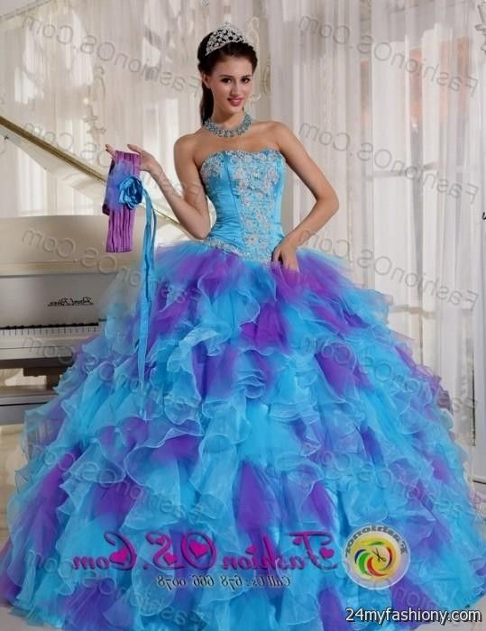 purple and blue quinceanera dresses 2016-2017 » B2B Fashion