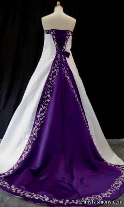 Purple and blue wedding dresses 2016 2017 b2b fashion for White wedding dress with lavender