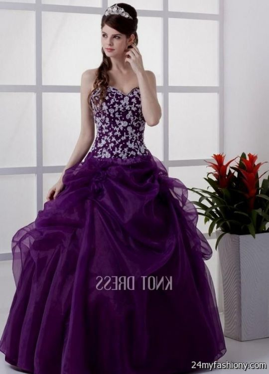 Purple And Silver Sweet 16 Dresses - Missy Dress