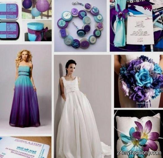 Purple And Teal Wedding Dresses 2016 2017