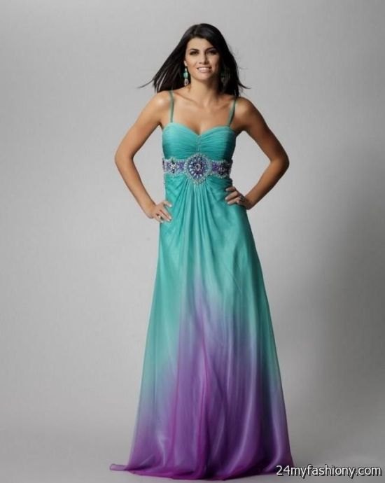 Purple and teal wedding dresses 2016 2017 b2b fashion for Teal dress for wedding