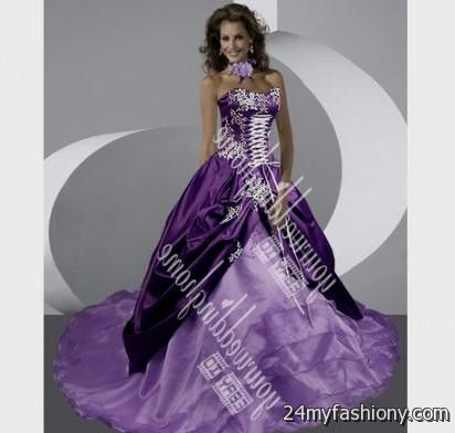Emejing Purple And Silver Wedding Dresses Ideas - Styles & Ideas ...