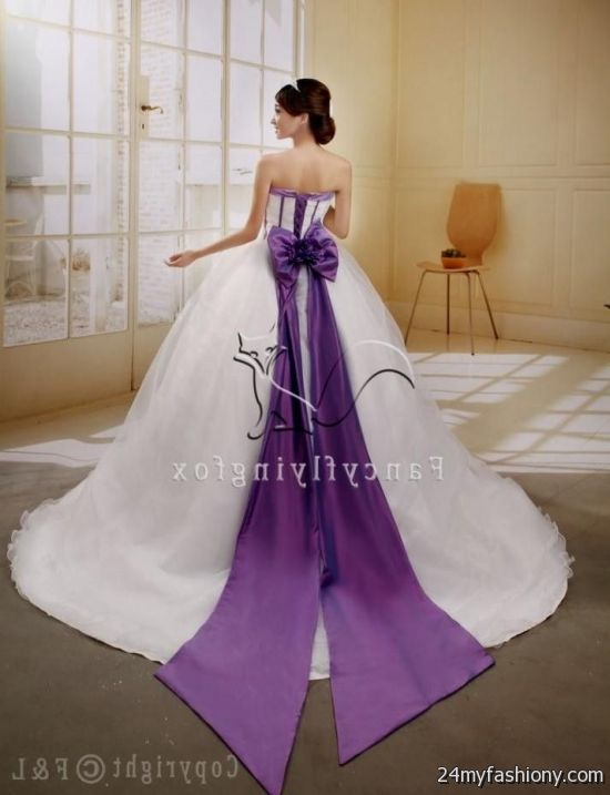 9ad6b58ba6c You can share these purple and white corset wedding dresses on Facebook