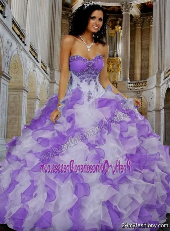 purple and white dresses for quinceaneras 2016-2017 » B2B Fashion