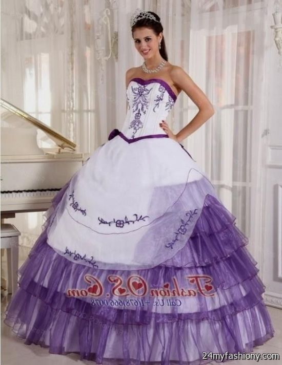 Purple And White Prom Dresses Looks B2b Fashion