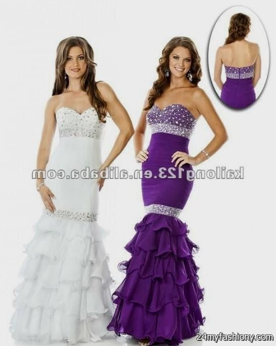 Modern Purple And White Prom Dresses Component - Wedding Plan Ideas ...