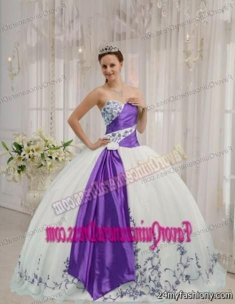 purple and white quinceanera dresses 20162017 b2b fashion