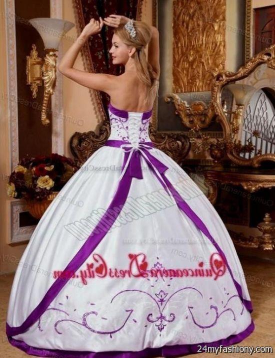 purple and white quinceanera dresses 20162017 b2b fashion