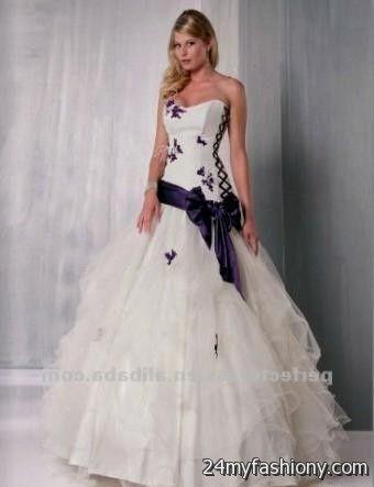 Best White Wedding Dress With Purple Photos - Styles & Ideas 2018 ...