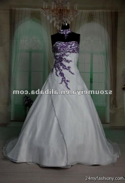 Purple and white wedding dress 2016 2017 b2b fashion for White wedding dress with lavender