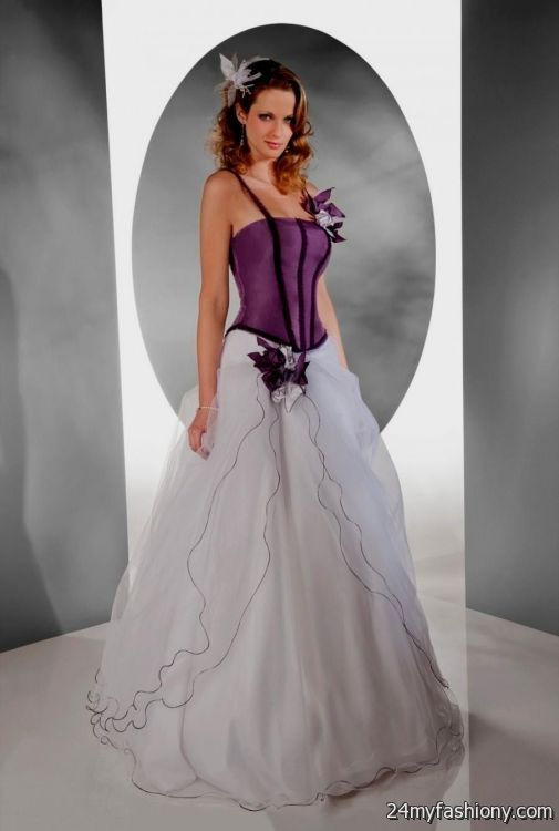 purple and white wedding dress 20162017 b2b fashion