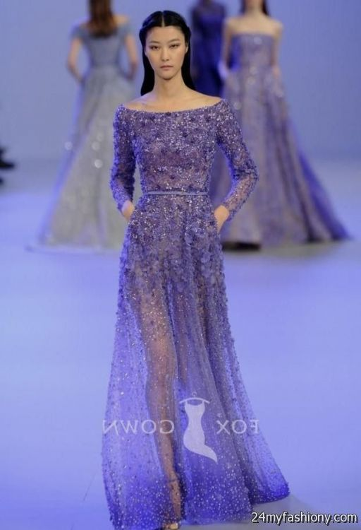 purple ball gowns with sleeves 2016-2017 | B2B Fashion