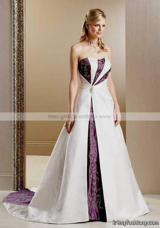 Purple Colored Wedding Dresses 2016 2017