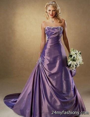 purple colored wedding dresses 2016-2017