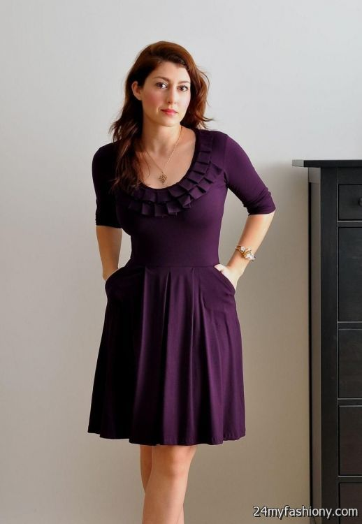 Purple Dresses With Sleeves