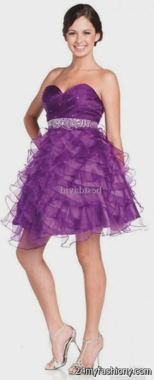 2122193ce1e You can share these purple graduation dresses for grade 8 on Facebook