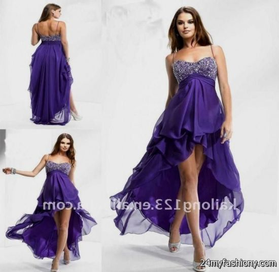purple high low prom dress 2016-2017 | B2B Fashion