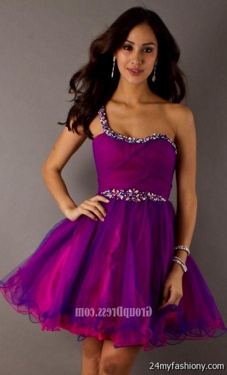 purple homecoming dress with straps 2016-2017 | B2B Fashion