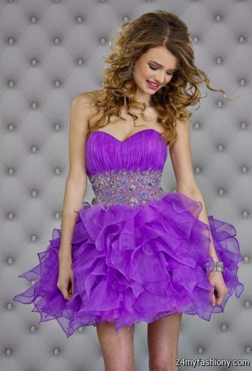 27457570df5 You can share these purple homecoming dresses under 50 on Facebook