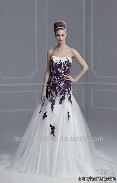 Purple lace wedding dress 2016 2017 b2b fashion for Purple lace wedding dress