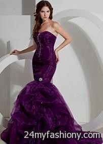 Purple Mermaid Wedding Dress