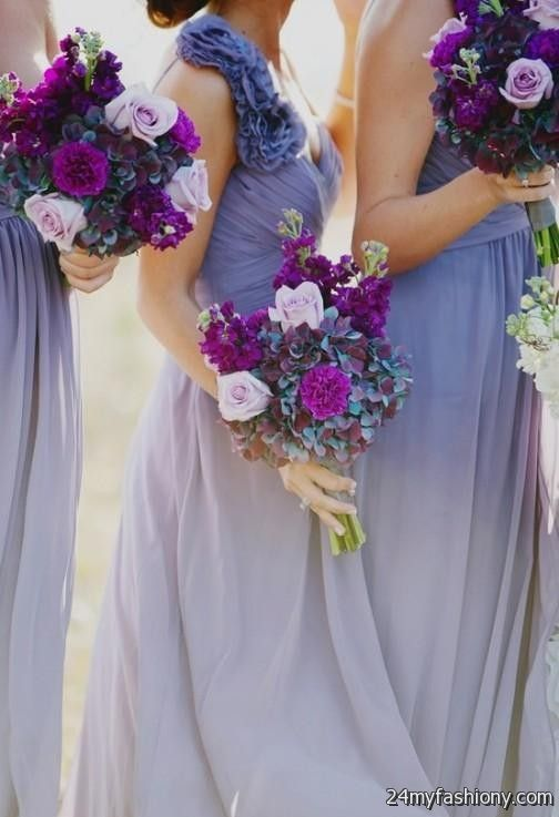 Purple ombre bridesmaid dresses 2016 2017 b2b fashion for Purple ombre wedding dress