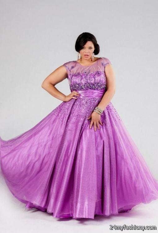 Purple Plus Size Prom Dresses 2016 2017 B2b Fashion