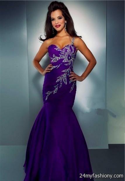 purple prom dresses with straps 2016-2017 | B2B Fashion