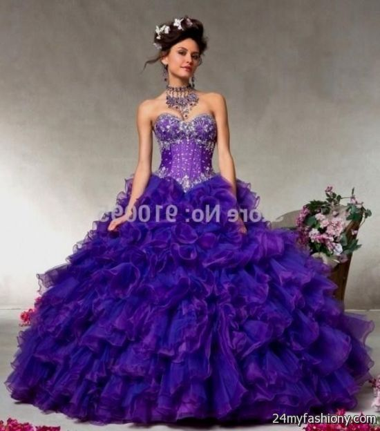Images of Puffy Purple Prom Dresses - Lotki