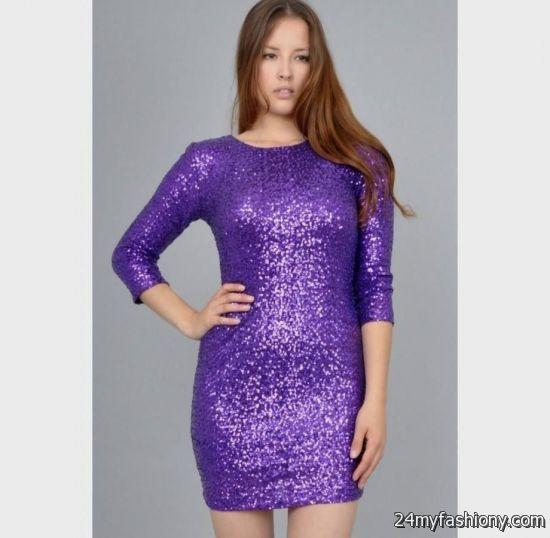 Purple Sequin Dress Photo Album - Reikian