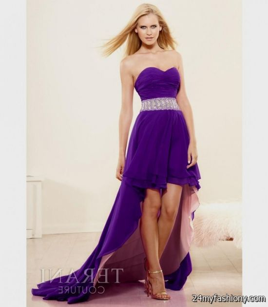 purple sequin high low dress 2016-2017 | B2B Fashion