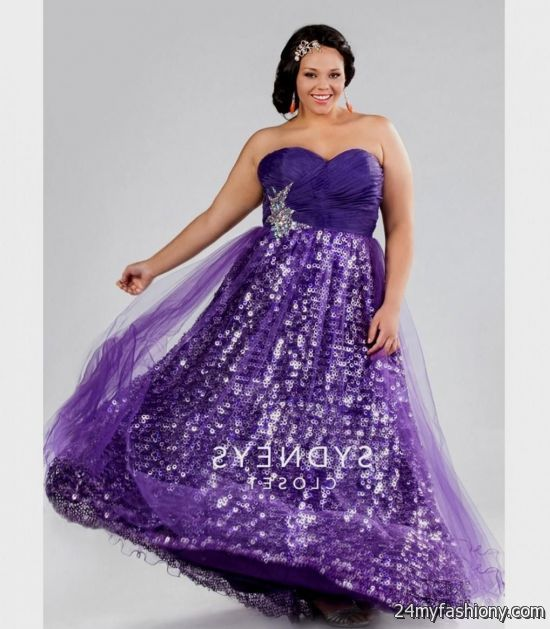 Purple Sparkly Prom Dress Looks B2b Fashion