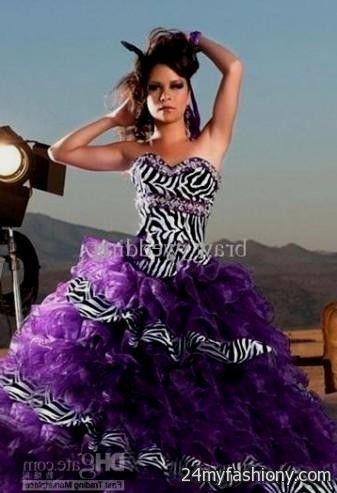 Purple Zebra Print Prom Dresses 2016 2017 B2b Fashion