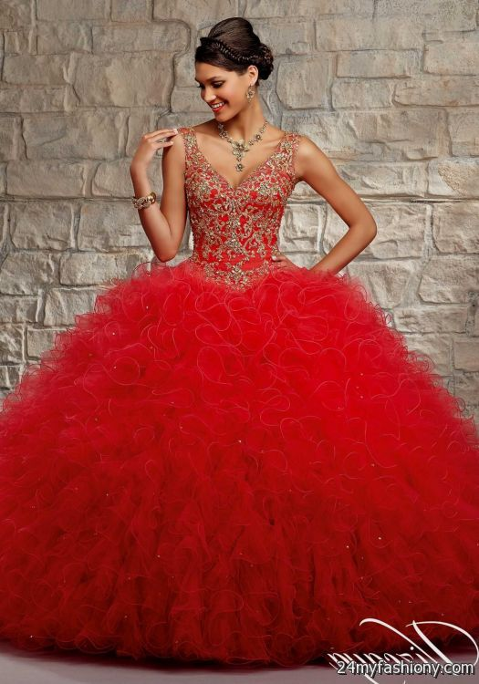 quinceanera dresses red and gold | Gommap Blog