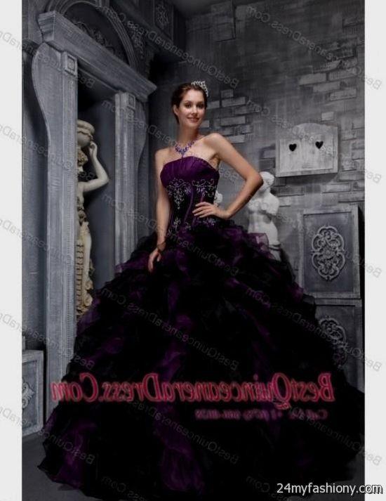 Quinceanera Dress Purple With Black Fashion Dresses