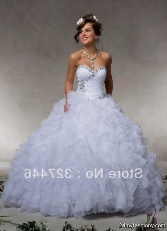 quinceanera dresses blue and white puffy 2016-2017 » B2B Fashion