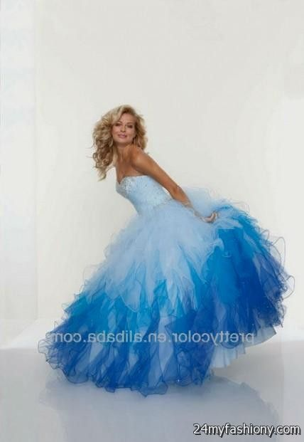 quinceanera dresses blue and white puffy 2016-2017 » B2B Fashion