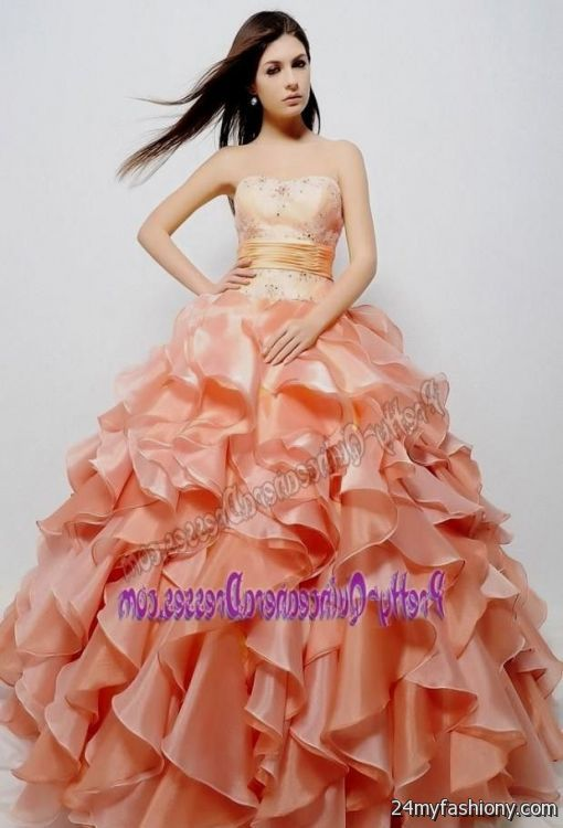 Fashion style Peach dark quince dresses for woman
