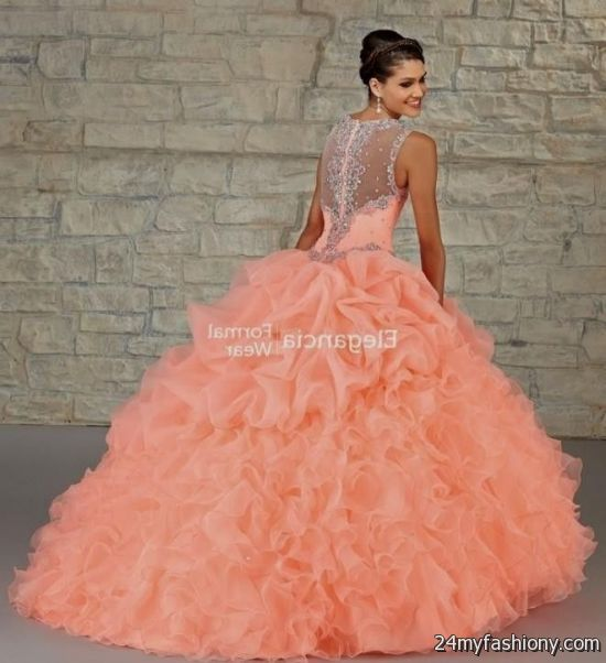Quinceanera Dresses Coral And White Looks B2b Fashion