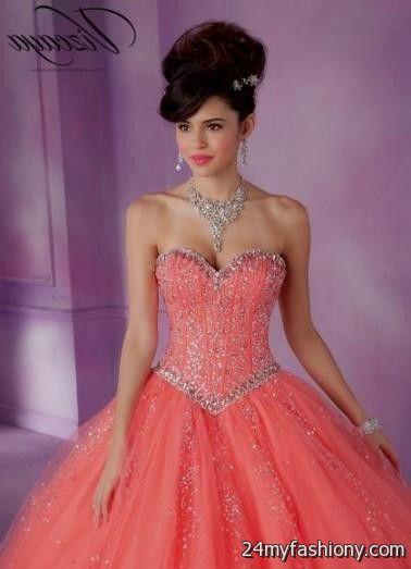 quinceanera dresses coral pink 2016-2017 » B2B Fashion