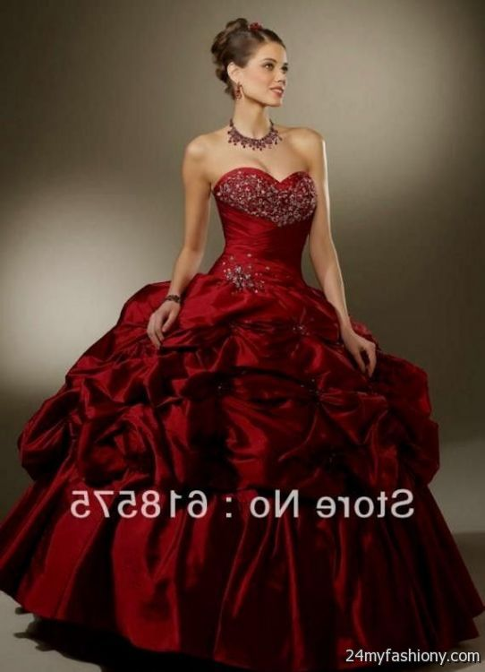 quinceanera dresses dark red 2016-2017 - 40.2KB