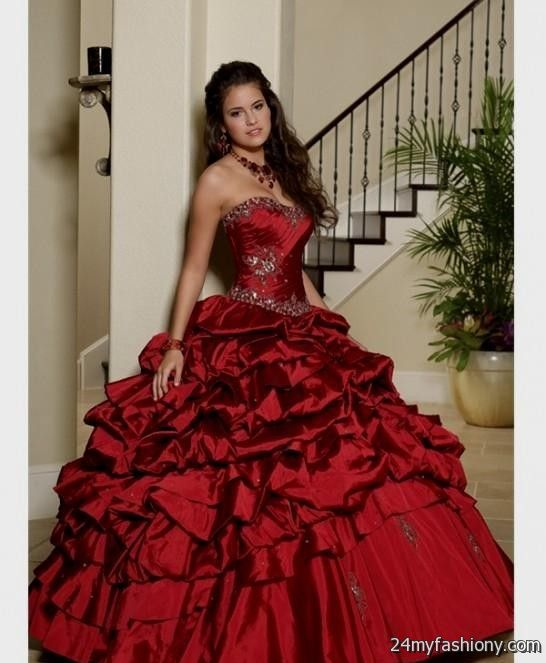 quinceanera dresses dark red 2016-2017 - 54.2KB