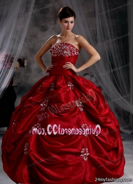 quinceanera dresses dark red 2016-2017 - 59.2KB
