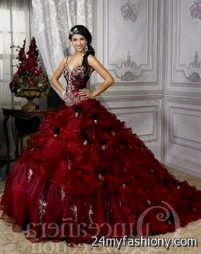quinceanera dresses dark red 2016-2017 - 21.9KB