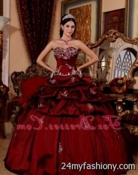 quinceanera dresses dark red 2016-2017 - 20.9KB