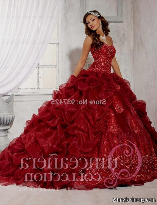 quinceanera dresses dark red 2016-2017 - 65.0KB