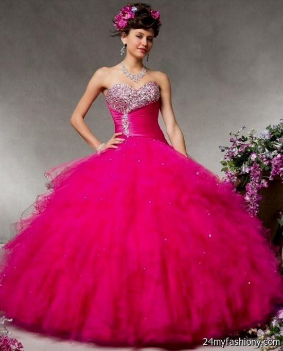 quinceanera dresses hot pink and gold 2016-2017 » B2B Fashion