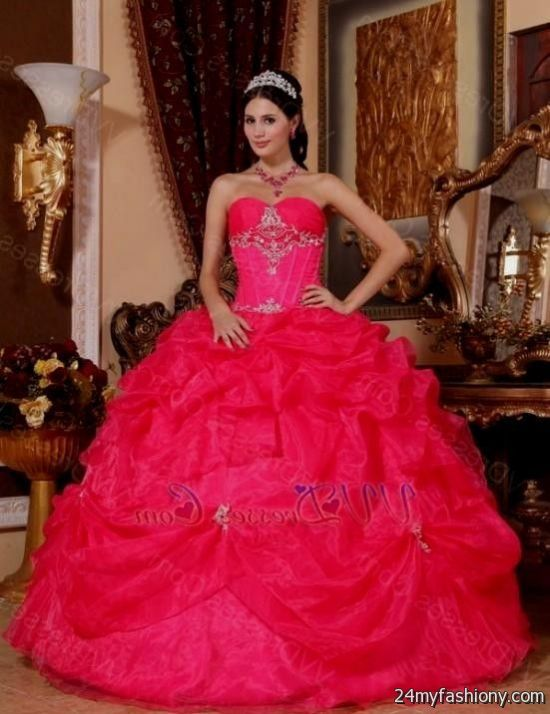 Fashion style Pink hot puffy quinceanera dresses for girls